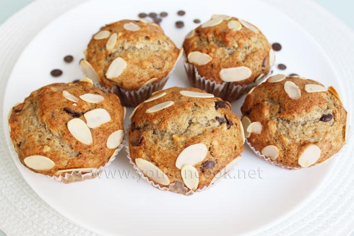 Schoko Bananen Muffins Rezept - Saftig und lecker
