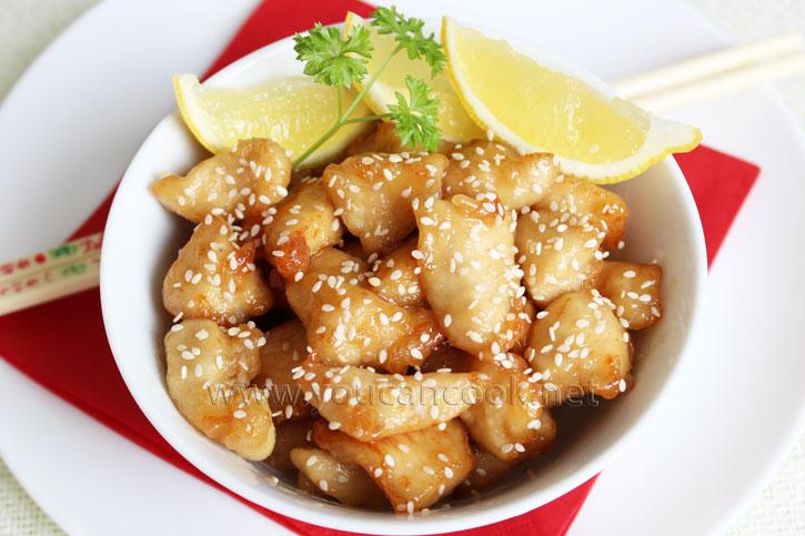 Knuspriges Hähnchen in Zitronen-Honigsauce Rezept