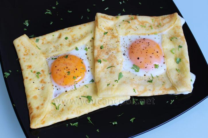 Spiegelei Rezept - Ideal als herzhafte Crêpes zum Frühstück
