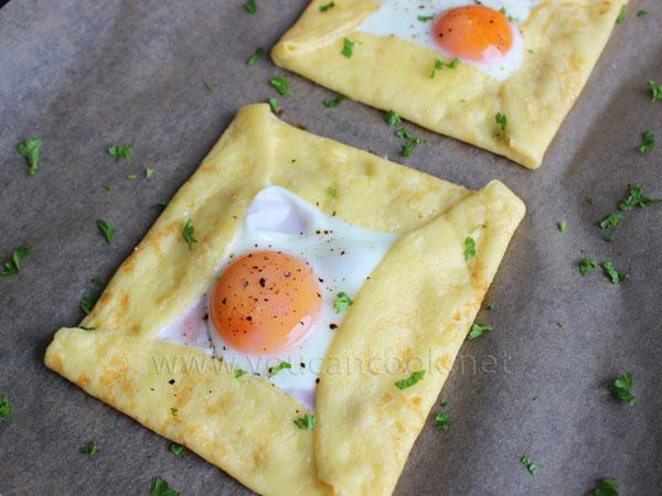 Spiegelei Rezept - Ideal als herzhafte Crêpes zum Frühstück1