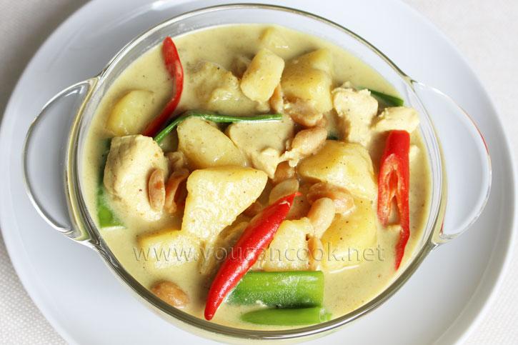 Hähnchen Curry Rezept fertig zum Servieren